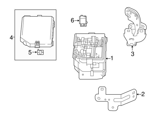 Genuine Acura Fuse Multi Block 38231-TZ3-A01