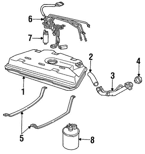Oem 1991 Cadillac Allante Fuel System Components Parts