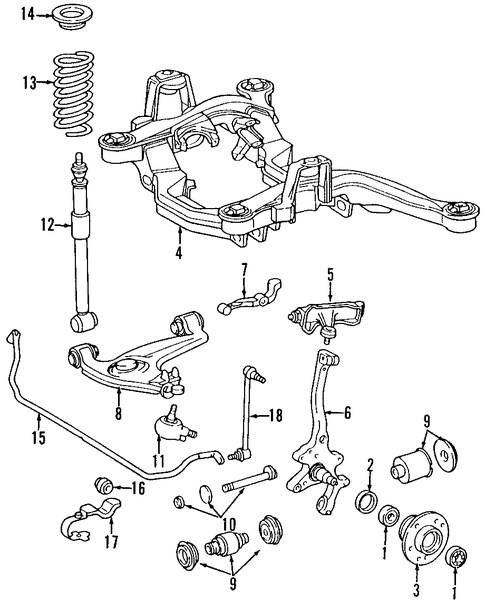 Front Suspension For 1999 Mercedes Benz S 320 Mb Oem Parts