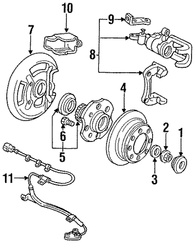 Caliper Assembly, L Rear (RMD)