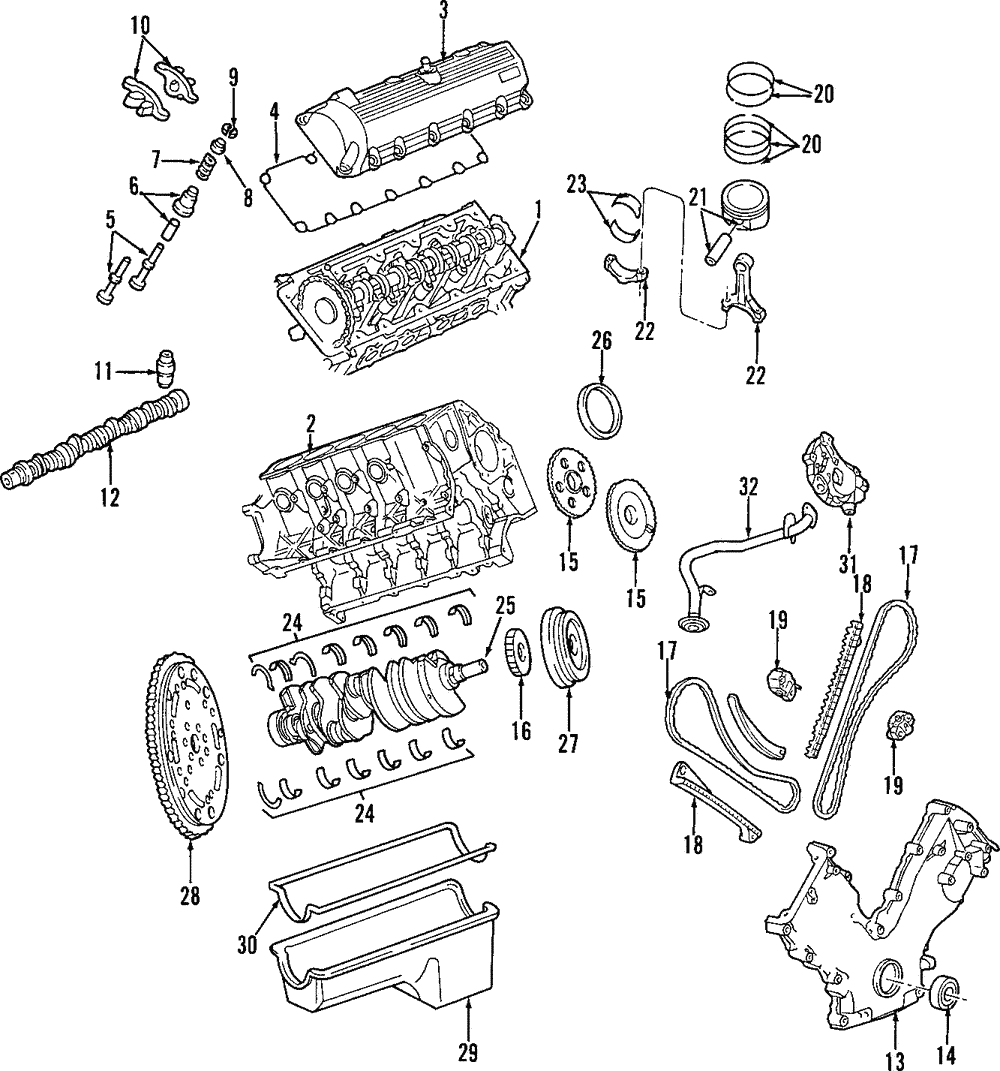genuine ford cylinder head 9c2z 6049 aa ebay Power Plug Diagram part can be found as 1 in the diagram above
