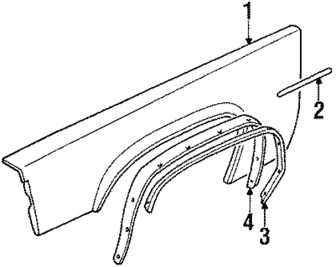 Fender & Components for 1990 Cadillac Brougham