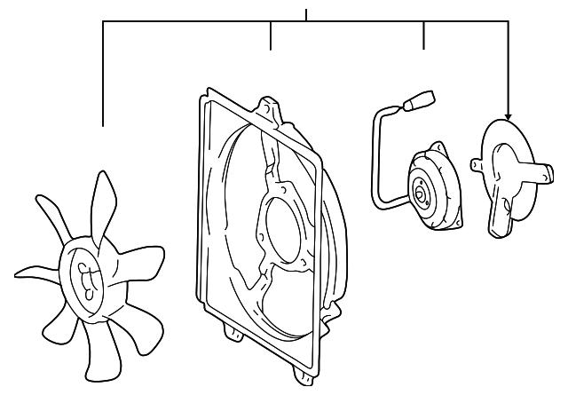 1997 2000 Toyota Rav4 Fan Assembly 88590 42021