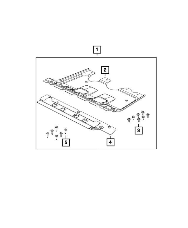 2014-2018 JEEP CHEROKEE TRANSMISSION SKID PLATE OEM NEW MOPAR 68249570AA