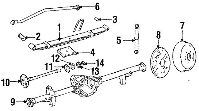 Retainer Plate Mopar 83504190: 2000 Jeep Wrangler Parts Catalog At Sergidarder.com