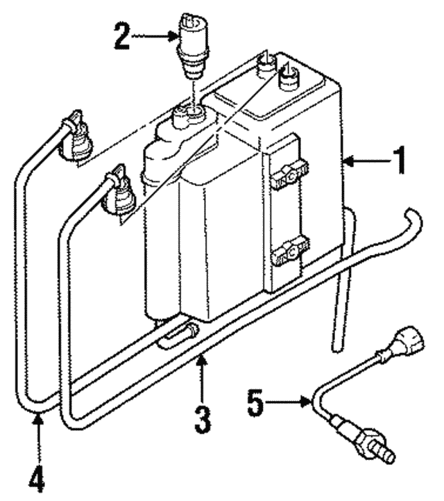 1991 1999 Bmw Oxygen Sensor 11 78 1 247 406