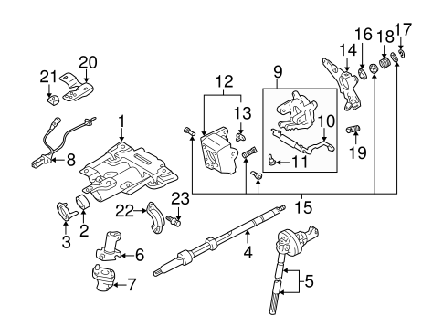 57311710cc80026f1063691fde1453ed genuine oem steering column assembly parts for 2000 toyota tundra