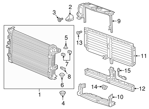 oem 2018 chevrolet equinox radiator components parts. Black Bedroom Furniture Sets. Home Design Ideas
