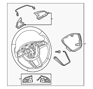 Steering Wheel - Audi (4K0-419-091-B-JAJ)