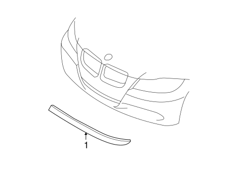 Exterior Trim - Front Bumper for 2011 BMW 335d #0