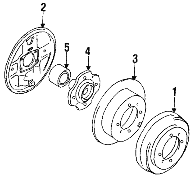 Brake Drum - Mitsubishi (MB587578)