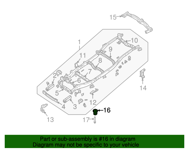 Genuine Nissan Radiator Assembly Mount Cushion 21508-4P00A