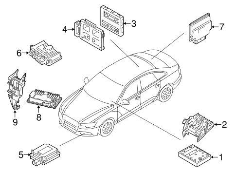 Electrical Components For 2015 Audi A6