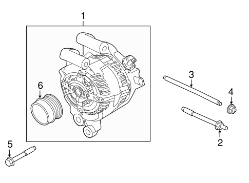 alternator for 2013 ford fusion