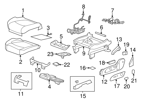 body/front seat components for 2014 gmc acadia #1
