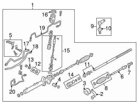 Mazda Inner Tie Rod B25d32240