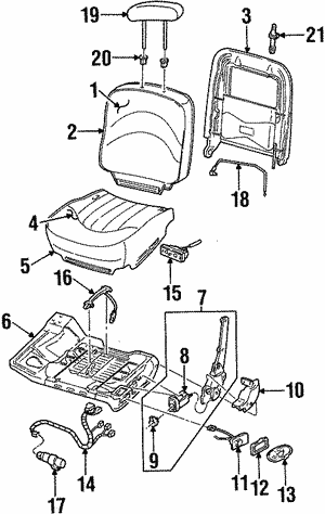 Power Seats For 1996 Lincoln Town Car
