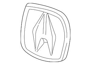Genuine Acura 75700-S3V-A01 Emblem