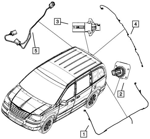 Wiring Body And Accessories For 2008 Dodge Grand Caravan