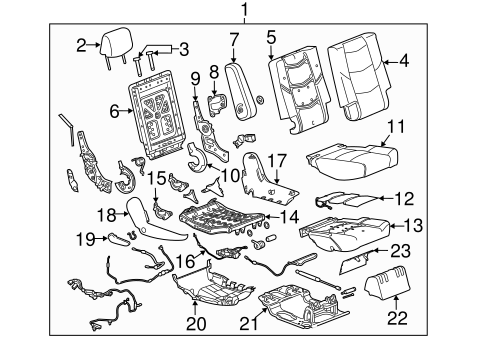 Oem 2015 Chevrolet Tahoe Second Row Seats Parts