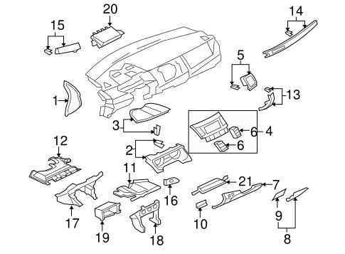 Instrument Panel Components For 2008 Mitsubishi Lancer Evolution Gsr