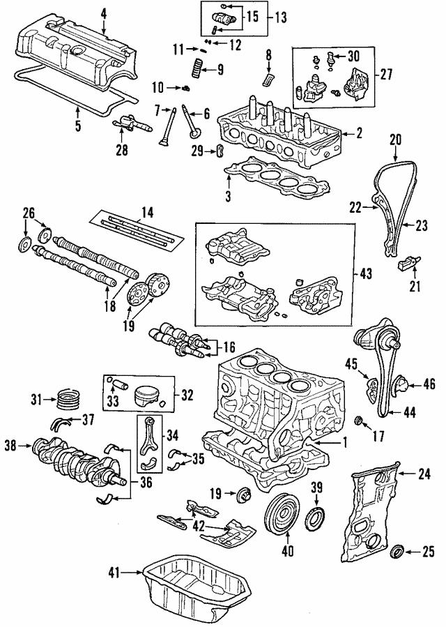 Element Camshaft VTC Actuator Accord Genuine Honda OEM 14310-RAA-A01