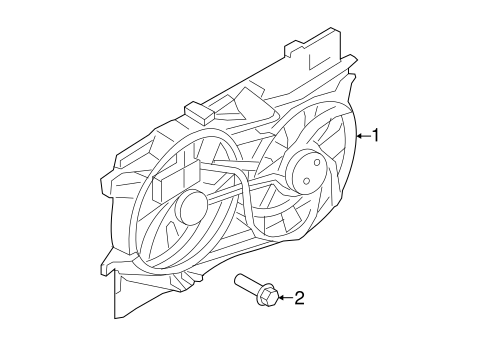 Cooling System/Cooling Fan for 2013 Ford Edge #1
