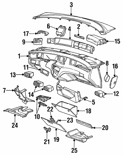 Oem 1994 Lincoln Mark Viii Trunk Parts