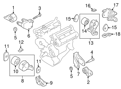 Kia Sedona Motor Mount Diagram