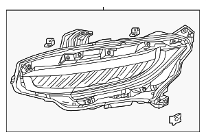 Headlight Assembly, R - Honda (33100-TBA-A11)