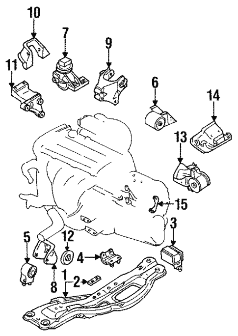 Engine & Trans Mounting for 1993 Ford Probe #0