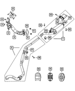 Exhaust Support Isolator - Mopar (4721749AA)