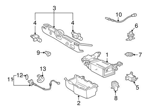 Emission Components For 2001 Toyota Highlander