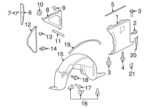 oem 2006 pontiac solstice fender components parts. Black Bedroom Furniture Sets. Home Design Ideas