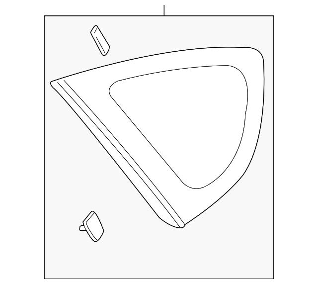 2014 Scion Iq Transmission: Glass - Subaru (65209FG003)