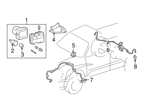Abs Components For 2002 Toyota Tundra