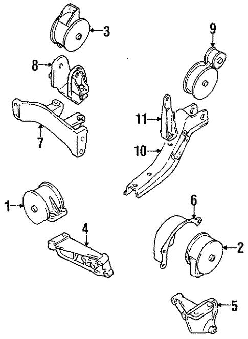 Oem 1999 Chevrolet Metro Engine Trans Mounting Parts