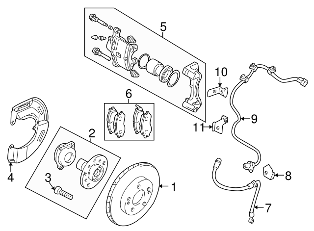 Mitsubishi Brake Hose Bracket Mr289904