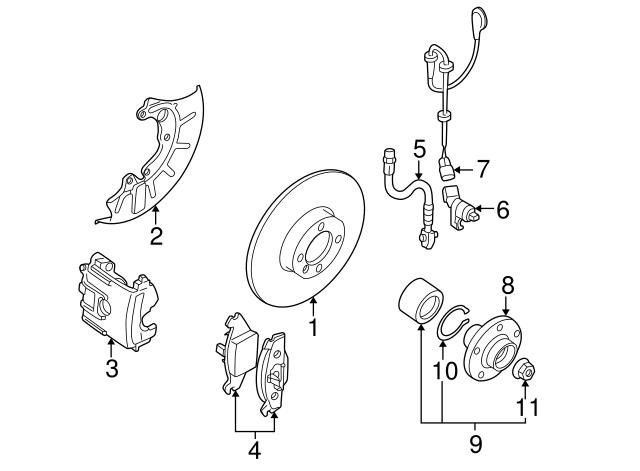 1998 2010 Volkswagen Abs Sensor Wire 1j0 927 903 E