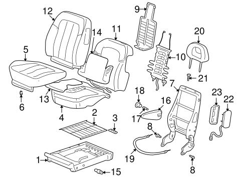 oem 2005 pontiac aztek front seat components parts gmpartsonline net