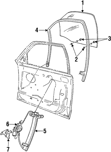 Body/Front Door for 2000 Ford Crown Victoria #4