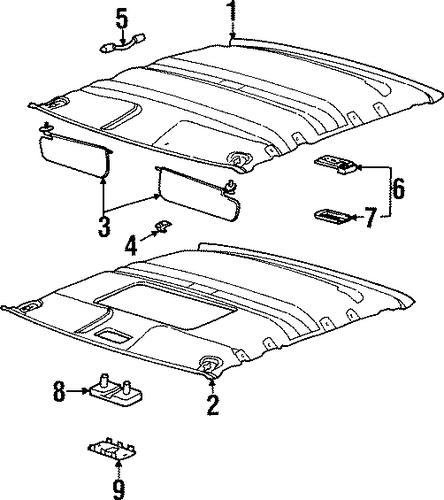oem 2001 saturn sc2 interior trim
