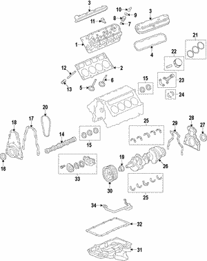 Genuine GM  6.2 Litre Engine |Part# - 12657206