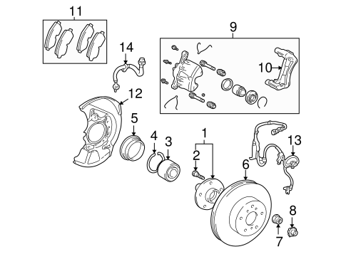 BRAKES/BRAKE COMPONENTS for 2002 Toyota Avalon #1