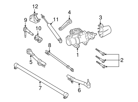 Steering Gear & Linkage for 2008 Ford F-350 Super Duty   Blue Springs Ford  PartsBlue Springs Ford Parts