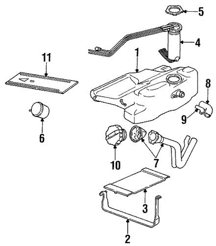1994 saturn 1 9 engine n diagram oem fuel system components for 1995 saturn sc1 ... 2001 audi 1 8t engine belt diagram
