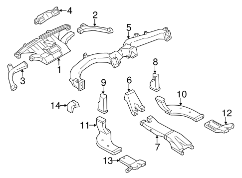 Body/Ducts for 2014 Nissan Murano #1