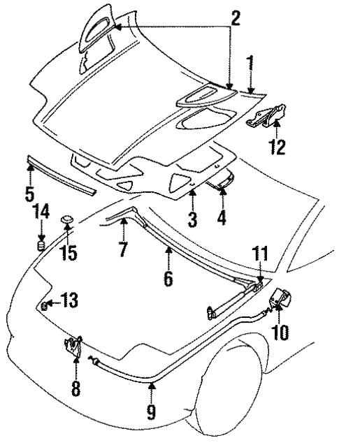 Hood Components For 1999 Mitsubishi 3000gt