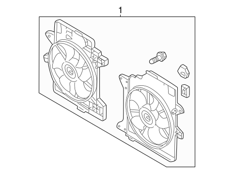 Cooling System/Cooling Fan for 2005 Ford Escape #1