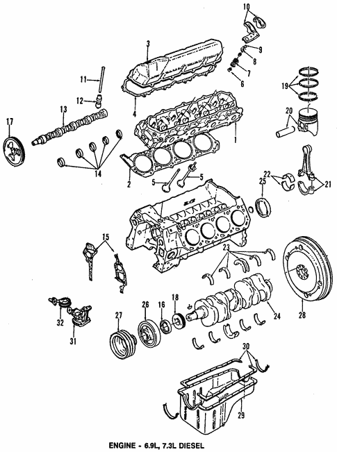 Engine Parts For 1994 Ford F 350